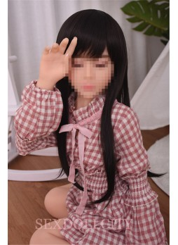 100cm Japanese closed eyes flat chest doll real love doll realistic oral vagina pussy