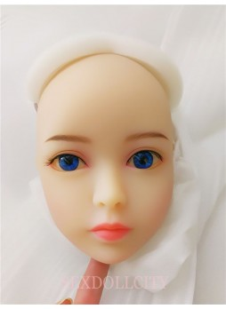 mini sex doll head for 100cm AXB Doll come with blue eyes blonde Wig free shipping