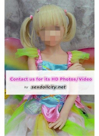 New arrival 106cm realistic full soft solid flat chest doll Japanese real life teen love dolls blonde wig
