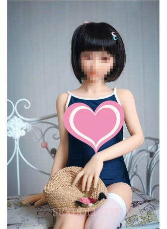 127cm Japanese flat chest doll tight vagina little tits real pussy anal and oral