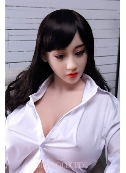 150cm Real Life E-Cup Big Breast Full Size Adult Love Sex Doll, Japanese Anime Solid Silicone Love Dolls With Metal Skeleton