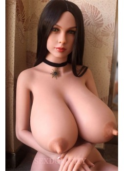 165cm Full Body Life Size Big Breast Love Sex Doll Realistic Lifelike Real Silicone Huge Breast Sex Doll With Vagina Oral Anal